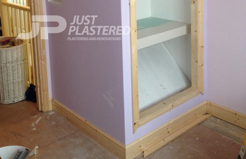 Plasterers in Bristol, built in wardrobe made and plastering the painted, Home Renovations