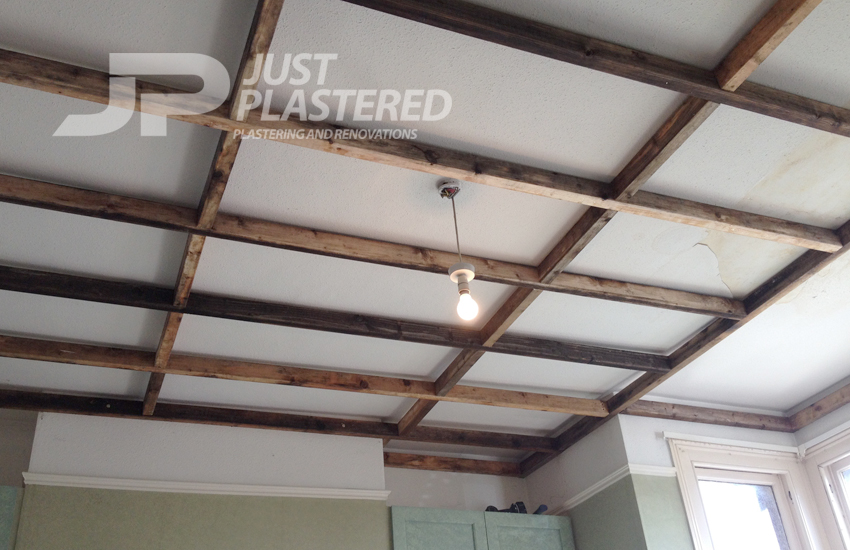 Plasterers in Bristol, False ceiling made, insulated then plastering work completed in Bristol by qualified plasterers